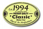 Distressed Aged Established 1994 Aged To Perfection Oval Design For Classic Car External Vinyl Car Sticker 120x80mm